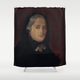 François-Auguste Biard - Retrato de Francisca Miquelina P do Amaral (Viscondessa de Indaiatuba) Shower Curtain
