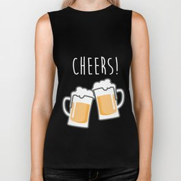 Cheers for peers with beer - Enjoy beer day with your friends Biker Tank