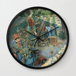 Camille Pissarro - Apple Picking Wall Clock