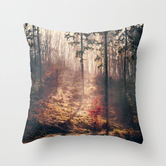 Little Red Tree Throw Pillow