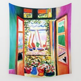 The Open Window Coastal - Floral and Maritime Collioure oil painting by Henri Matisse oil paint Wall Tapestry