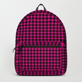 Mini Black and Hot Pink Cowgirl Buffalo Check Backpack