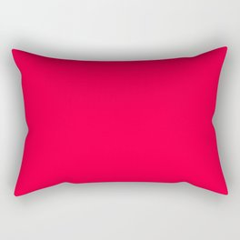 Carmine Red - solid color Rectangular Pillow