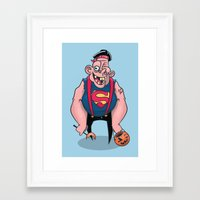 sloth Framed Art Prints featuring Sloth by Artistic Dyslexia