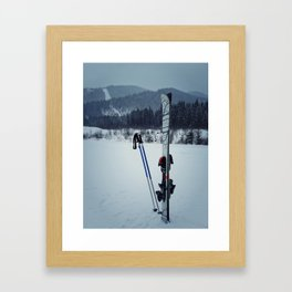 ski equipment Framed Art Print