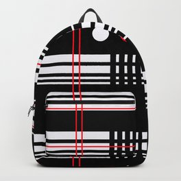 Geometry Flirt, Lines Circles Abstract Backpack