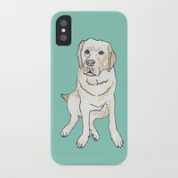 labrador iPhone & iPod Cases featuring Yellow Labrador by Tammy Kushnir