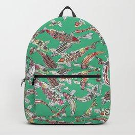 lucky koi green Backpack