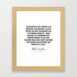 51 | Mel Robbins Quotes | 190802 Framed Art Print