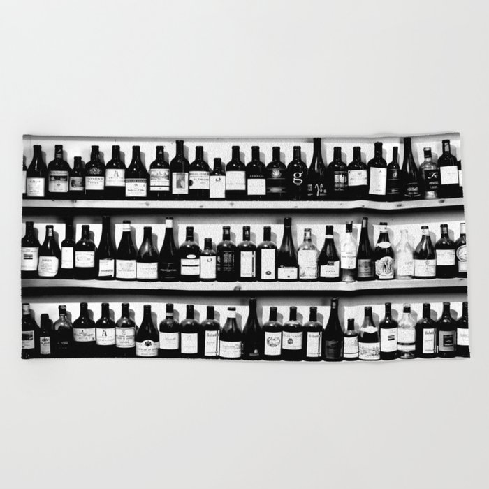 Wine Bottles Beach Towel