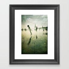 Danse de la pluie III Framed Art Print