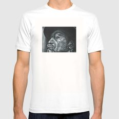 shadow part2 White Mens Fitted Tee MEDIUM