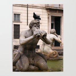 Triton Statue Poster
