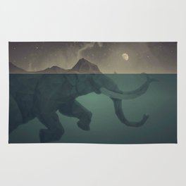 Elephant mountain Rug