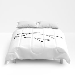 Gemini Star Sign Black & White Comforters