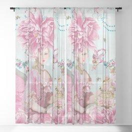 Marie Antoinette Wallflower Sheer Curtain