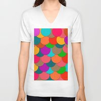circles V-neck T-shirts featuring Circles.  by Eleaxart