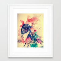 birdy Framed Art Prints featuring Birdy by Hilary Dow