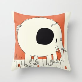 Friendly Little Elephant Throw Pillow