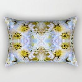 Bue Yellow Pastel Chrysanthemums Design Rectangular Pillow