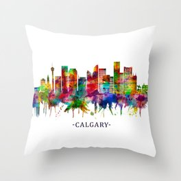 Calgary Canada Skyline Throw Pillow