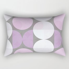 pink grey circular pattern Rectangular Pillow