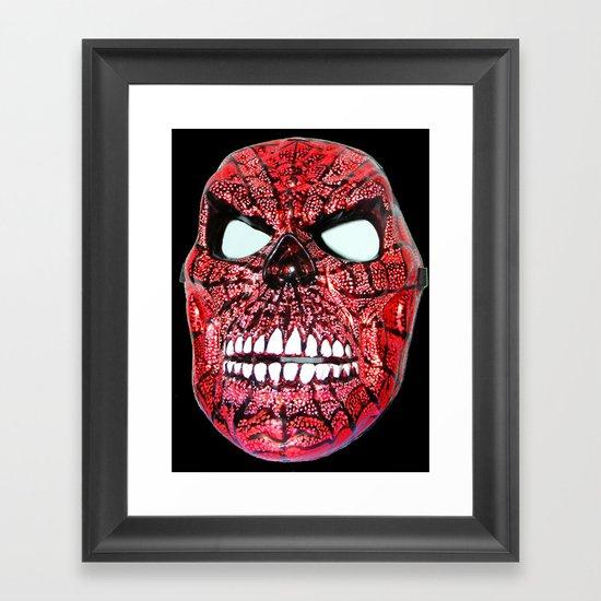 Spidey Skull Framed Art Print