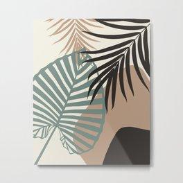 Minimal Jungle Leaves Finesse #1 #tropical #decor #art #society6 Metal Print