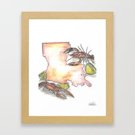 Louisiana Crawfish Boil Framed Art Print