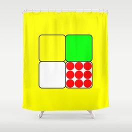 Tour de France Jerseys 3 Yellow Shower Curtain