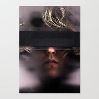 anonymous Canvas Prints featuring Anonymous by Misty Jayne