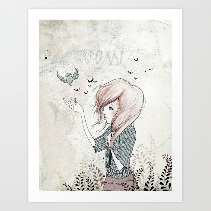 My Heart Carries Me Through Art Print