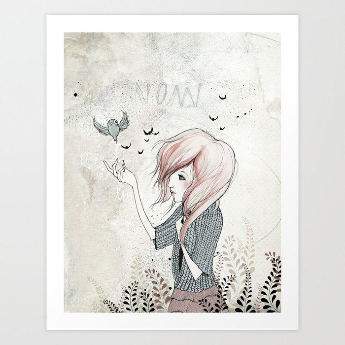 My Heart Carries Me Through Art Print