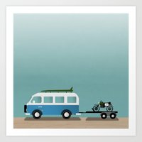 vans Art Prints featuring Surf Vans by Billy Hrncir