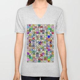 Jigsaw junkie Unisex V-Neck
