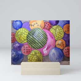 Zentangle Bubbles Mini Art Print