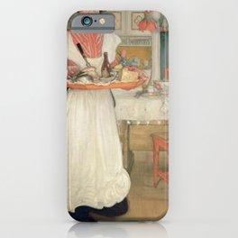 Carl Larsson - Martina med frukostbrickan iPhone Case