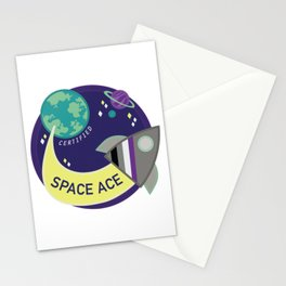 Certified Space Ace Stationery Cards