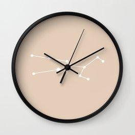 Taurus Zodiac Constellation - Warm Neutral Wall Clock