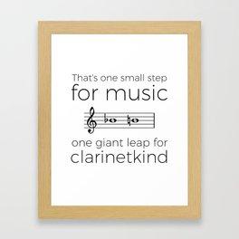 Crossing the break (clarinet) Framed Art Print