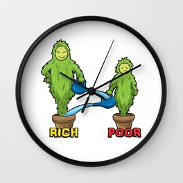 Rich And Poor Illustration - The Truth Wall Clock
