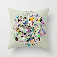 breaking Throw Pillows featuring Breaking Free by Angelo Cerantola