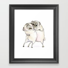 Old Love Pug Art Framed Art Print