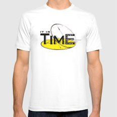 It's just a matter of time Mens Fitted Tee White MEDIUM