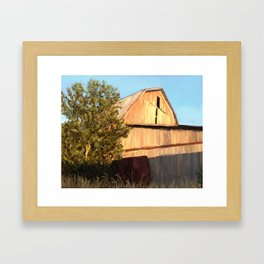 Old barn in Vickery, Ohio Framed Art Print