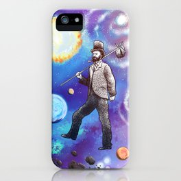 Wherever I May Roam (Space Vagabond) iPhone Case