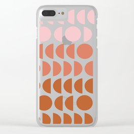 Terracotta and Blush Shapes Clear iPhone Case