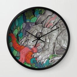 Greedy Bunny Wall Clock