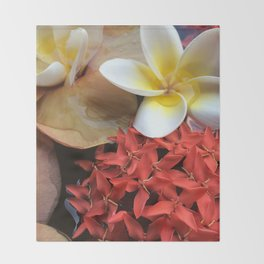 Frangipani & Ixora Throw Blanket
