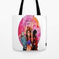 artrave Tote Bags featuring ARTRAVE by JessicART
